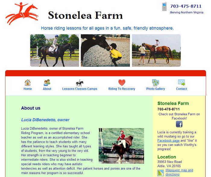 stonelea farm website