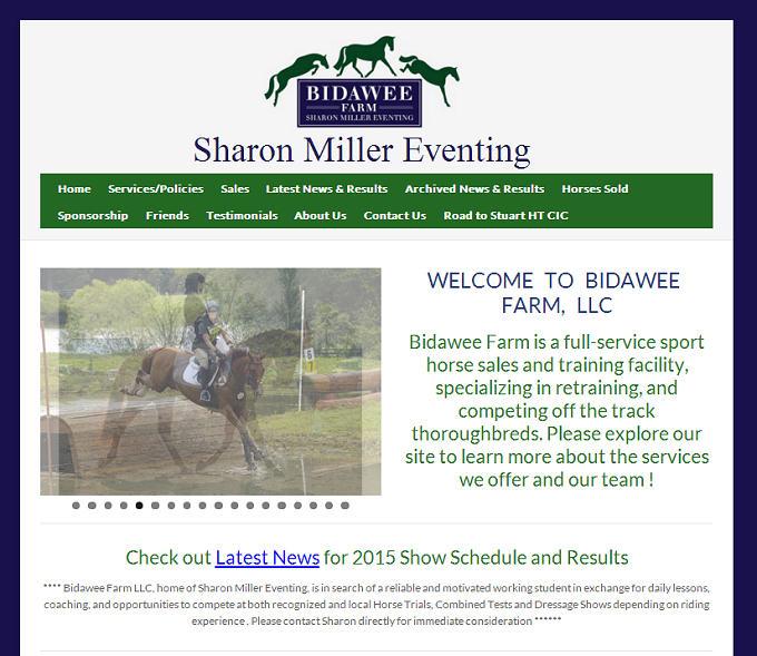 Sharon Miller Eventing new website