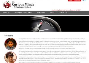 Curious Minds WordPress website