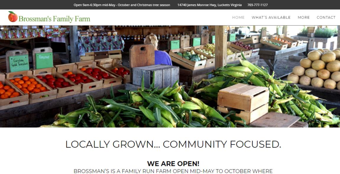 Website Design Project for Brossman's Farm